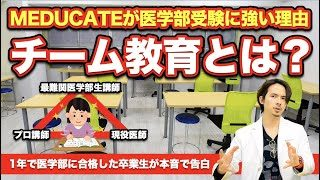 【MEDUCATEが医学部受験に強い理由】チーム教育とは?